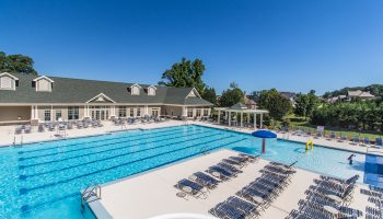 Traditions of Braselton Pool Aerial Shot