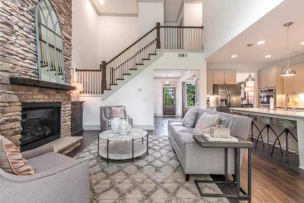 New Homes in Dallas Georgias Oakleigh Pointe with open floor plans