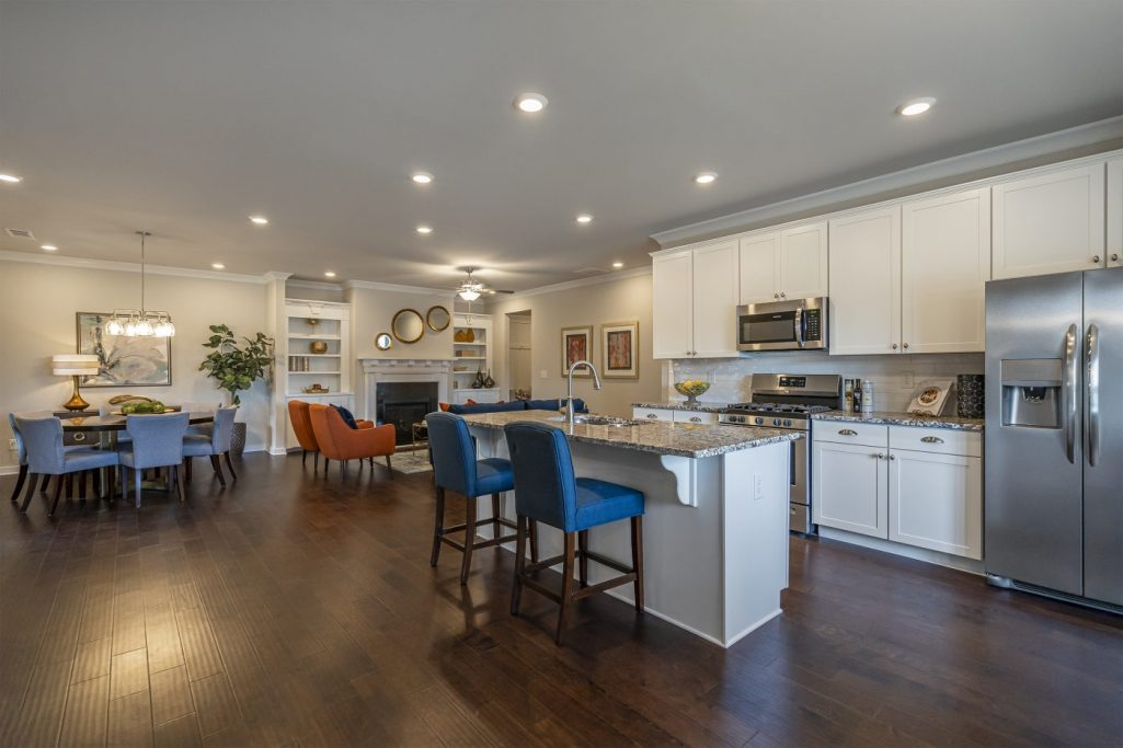 a kitchen in Seaboard Junction - an Active Adult Community in Loganville