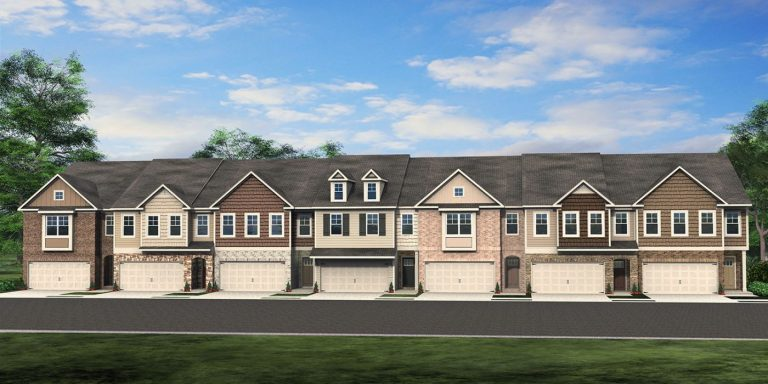 the floor plans at Sweetwater Townhomes in powder springs