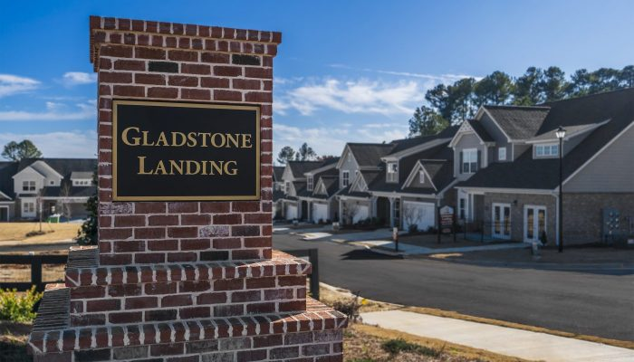 a plinth in gladstone landing, an age qualified snellville community