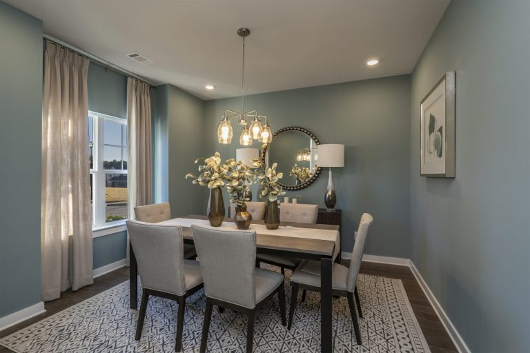 a dining room in the age qualified snellville community of gladstone landing