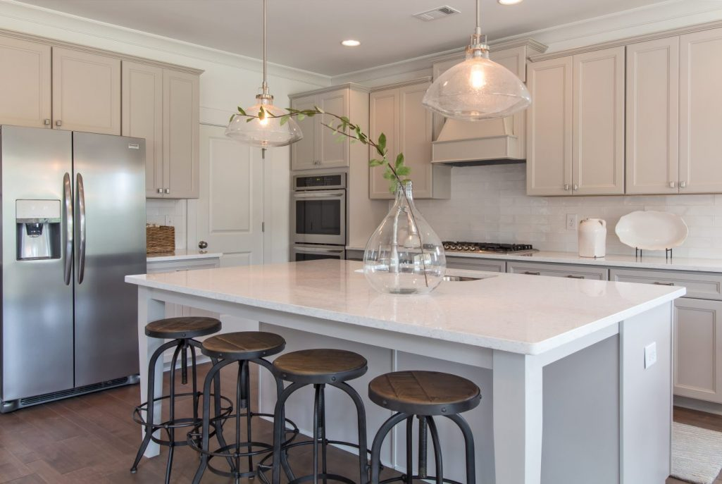 Millwood Farms Kitchen with White Cabinets and Coutertops