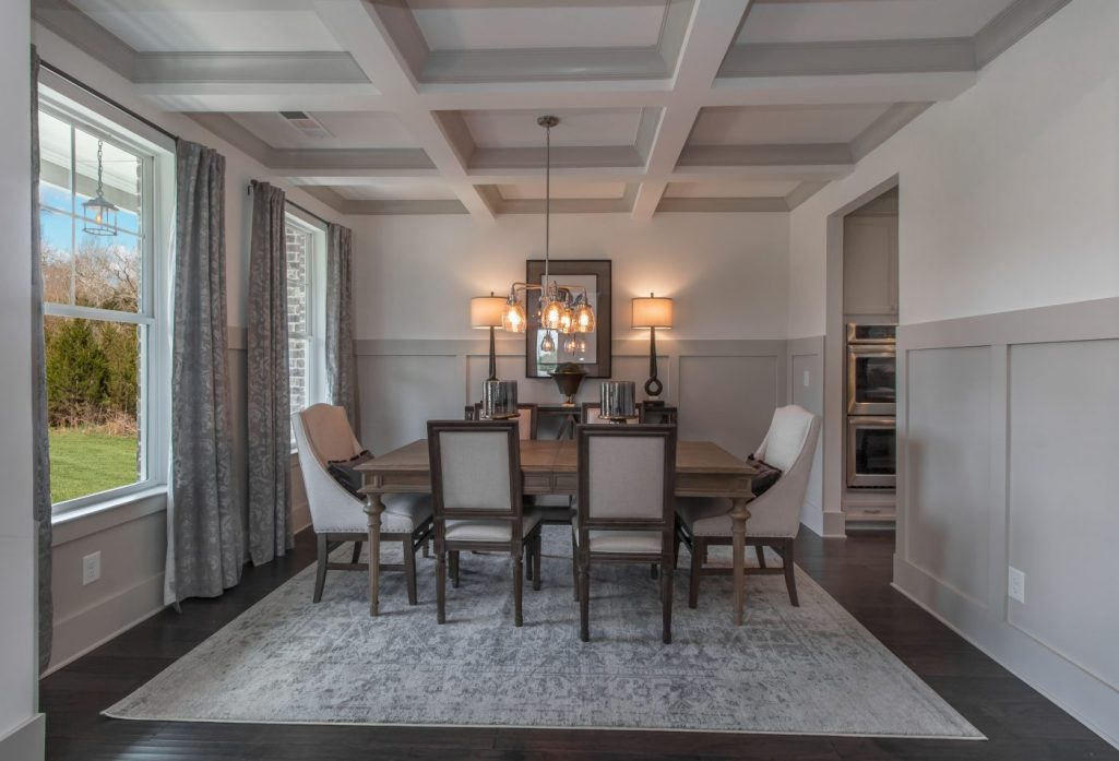 Oakleigh Pointe Dining Room with Coffered Ceiling