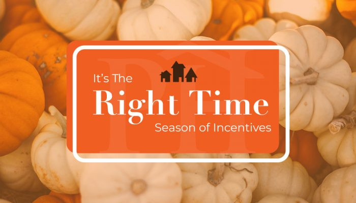 It's the right time season of incentives paran home