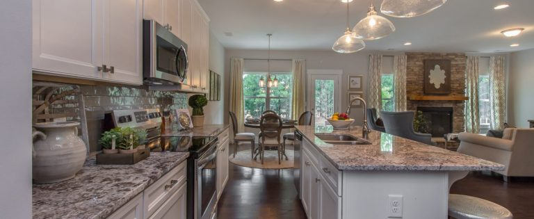 a new kitchen in a paran homes home