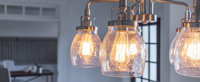 a light fixture waiting for your design center visit