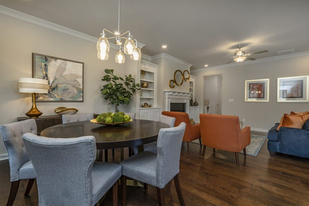 a dining room in the active adult living community from Paran Homes