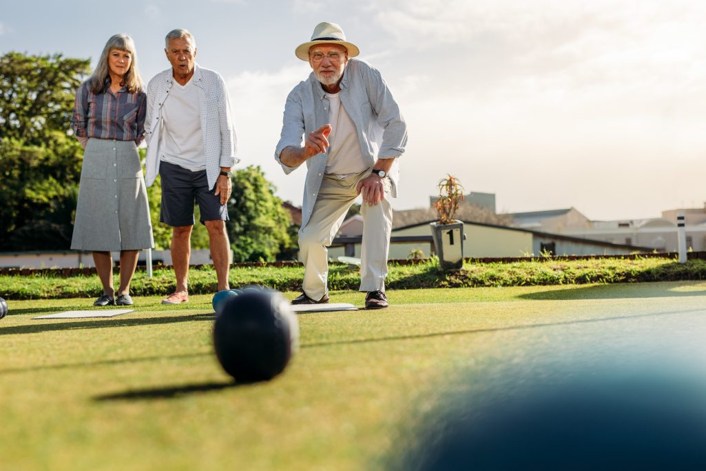 bocce ball at an active adult community
