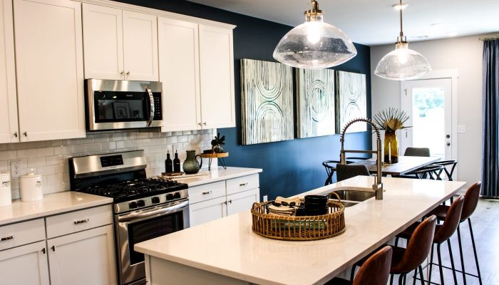 the kitchen in a sweetwater landing townhome