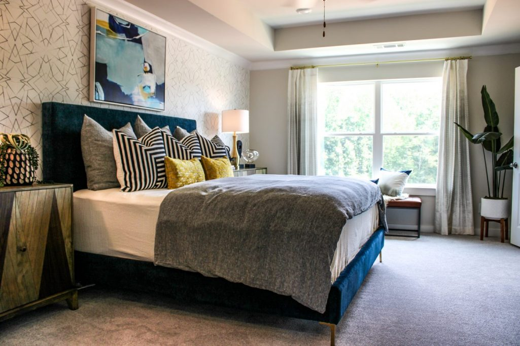 The bedroom in a powder springs townhome at Sweetwater Landing Townhomes