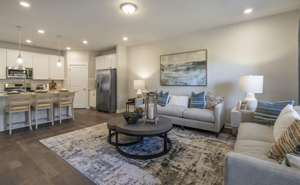 Living Area in Model Home in Gladstone Landing