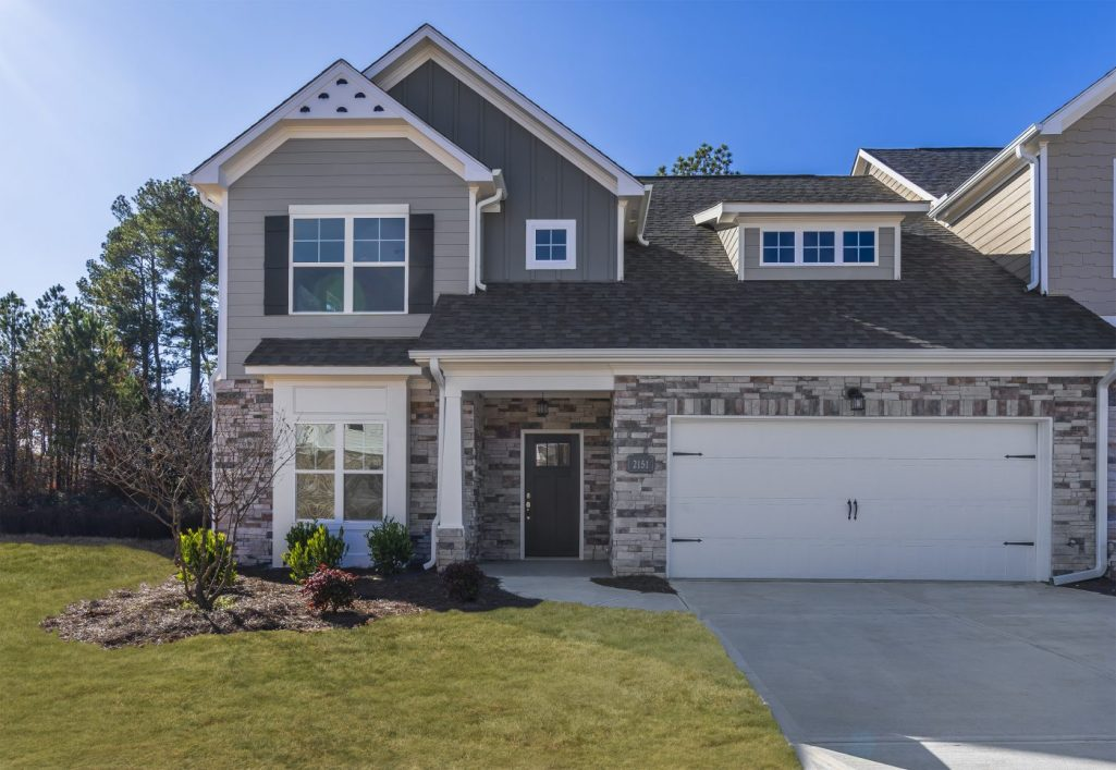Exterior of Model Home in 55 and Over Community Gladstone Landing